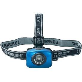 トラスコ中山 アルミ強力LEDヘッドライト(ブルー) THLX2213AB