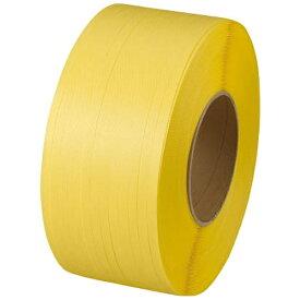 トラスコ中山 自動梱包器用PPバンド幅15.5mmX長さ2500m 黄 GPP155