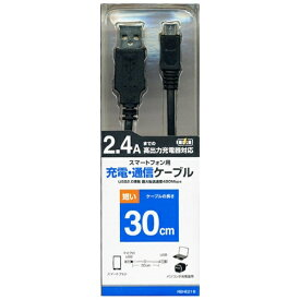 ラスタバナナ RastaBanana [micro USB]USBケーブル 充電・転送 (30cm・ブラック)RBHE216 [0.3m]