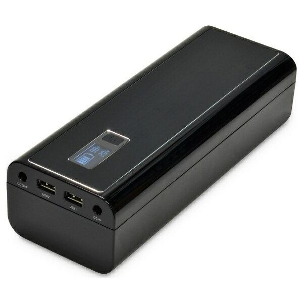 【送料無料】 日本トラストテクノロジー(JTT) タブレット/スマートフォン対応[DCポート・micro USB・USB mini・Dock・ゲーム/USB給電] ACモバイルバッテリー +専用ケーブル (52800mAh・3ポート:DCポート/2.1A/1A・ブラック) MPB-52800[MPB52800]
