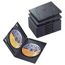 エレコム ELECOM DVDトールケース 2枚収納×10 ブラック CCD-DVD06BK[CCDDVD06BK]