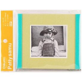 チクマ Chikuma フォトフレーム 「パティーサム」(Lミニ・平フレーム/緑) 07464-9 [生産完了品 在庫限り][パティーサムLミニ]