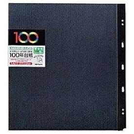 ナカバヤシ Nakabayashi 100年台紙用 バインダー式「フリー替台紙」5枚入 (Lサイズ/ブラック) アH-LYR-5[アHLYR5D]