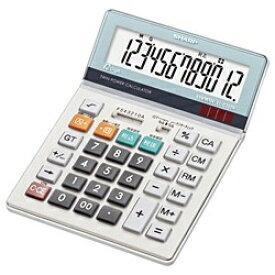 シャープ SHARP セミデスクタイプ電卓 (12桁) EL-S752K-X[ELS752KX]