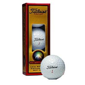 タイトリスト Titleist ゴルフボール HVC SOFT DISTANCE ホワイト 1HVSD-J-3P [3球(1スリーブ) /ディスタンス系]【オウンネーム非対応】