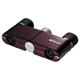 ニコン Nikon 4倍双眼鏡 「遊」4×10D CF(ワインレッド)[ユウ410DCFRD]