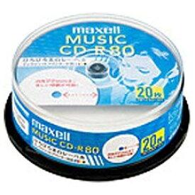 マクセル Maxell CDRA80WP.20SP 音楽用CD-R ホワイト [20枚 /インクジェットプリンター対応]