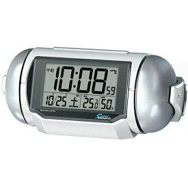 セイコー SEIKO 目覚まし時計 【SUPER RAIDEN(スーパーライデン)】 白パール NR523W [デジタル /電波自動受信機能有][目覚まし時計 電波 大音量 デジタル NR523W]