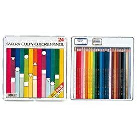 サクラクレパス SAKURA COLOR PRODUCT [色鉛筆] クーピー色鉛筆24色(スタンダード) PFY24[PFY24]