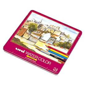 三菱鉛筆 MITSUBISHI PENCIL [水彩色鉛筆] ユニ ウォーターカラー (24色) UWC24C[UWC24C]