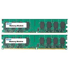 I-O DATA アイ・オー・データ PC2-5300対応 増設DDR2メモリー(1GB×2枚) DX667-1GX2A[DX6671GX2A]
