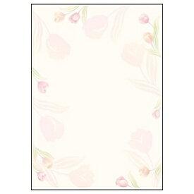 ササガワ SASAGAWA デザインペーパー フラール チューリップ (A4サイズ:10枚) 4-3002[43002]【wtcomo】