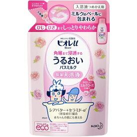 花王 Kao Biore(ビオレ)ビオレu すべすべバスミルク ミルクローズの香り つめかえ用(480ml) [入浴剤]