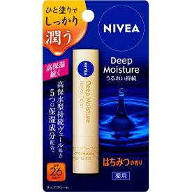 花王 Kao NIVEA(ニベア) ディープモイスチャーリップ はちみつの香り 2.2g 〔リップクリーム〕【rb_pcp】