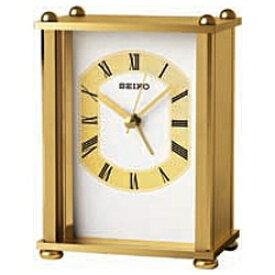セイコー SEIKO 置き時計 スタンダード 金 QK733G