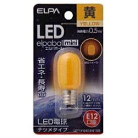 ELPA エルパ LDT1Y-G-E12-G103 LED装飾電球 LEDエルパボールmini ホワイト [E12 /黄色 /1個 /ナツメ球形][LDT1YGE12G103]