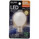 ELPA(エルパ) LED装飾電球 「LEDエルパボールmini」(S形ミニ球形・全光束45lm/電球色相当・口金E17) LDA1L-G-E17-G451[L...