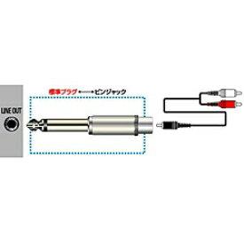 JVC ジェイブイシー オーディオ変換プラグ(モノラル標準⇔RCA) AP-102A[AP102A]
