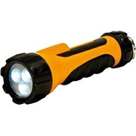 ELPA エルパ DOP-LR303 懐中電灯 ラバーライト オレンジ [LED /単1乾電池×2 /防水][DOPLR303]