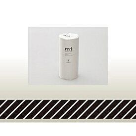 カモ井加工紙 KAMOI mt マスキングテープ・8コセット(ストライプ・ブラック) MT08D153