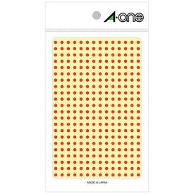 エーワン A-one カラーラベル 赤 07681 [4シート /336面 /光沢]【aoneC2009】