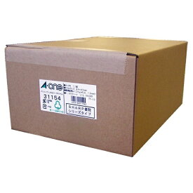 エーワン A-one パソコンプリンタ&ワープロラベルシール SHARP書院シリーズタイプ プリンタ兼用 ホワイト 31154 [A4 /1000シート /12面 /マット][宛名シール]