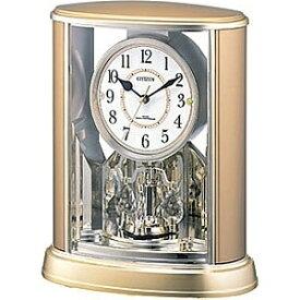リズム時計 RHYTHM 置き時計 【パルドリームR659】 金メタリック 4RY659-018 [電波自動受信機能有][4RY659018]