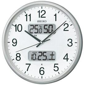 セイコー SEIKO 掛け時計 【スタンダード】 銀色メタリック KX383S [電波自動受信機能有][KX383S]