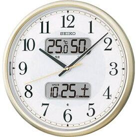 セイコー SEIKO 掛け時計 【ライト点灯】 薄金色パール KX384S [電波自動受信機能有][KX384S]