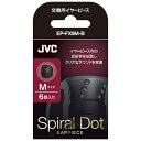 JVC ジェイブイシー イヤーピース(ブラック/Mサイズ/6個) EP-FX9M-B[EPFX9MB]