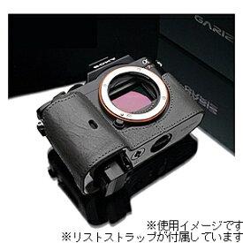 GARIZ ゲリズ 本革カメラケース&リストストラップ 【ソニー α7R/α7兼用】(グレー) XS-CHA7G/XS-WBL9[生産完了品 在庫限り][XSCHA7G]