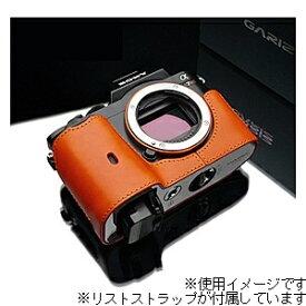 GARIZ ゲリズ 本革カメラケース&リストストラップ 【ソニー α7R/α7兼用】(オレンジ) XS-CHA7OR/XS-WBL8[生産完了品 在庫限り][XSCHA7OR]