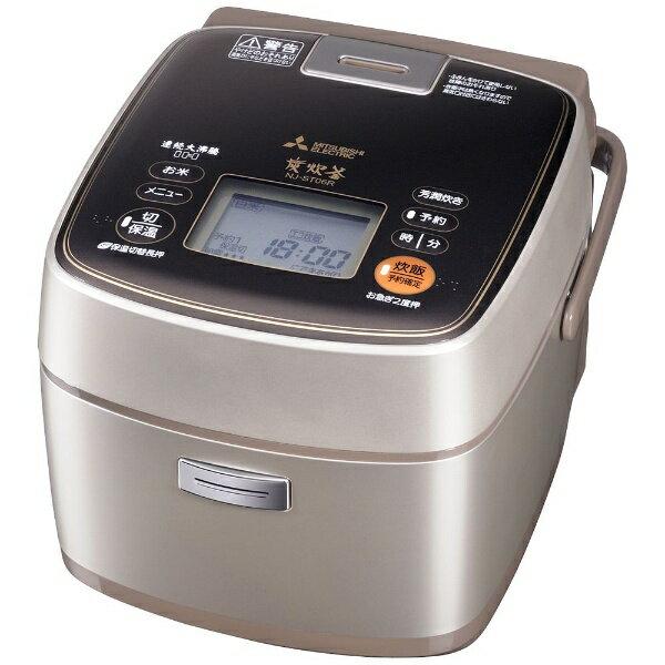 【送料無料】 三菱 Mitsubishi Electric NJ-ST06R 炊飯器 備長炭 炭炊釜 シャンパンゴールド [3.5合 /IH /4.1kg][NJST06R]