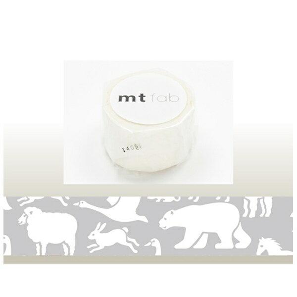 カモ井加工紙 KAMOI mt マスキングテープ mt fabフロッキー(白い動物) MTFL1P04