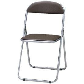 トラスコ中山 折りたたみパイプ椅子 ウレタンレザーシート貼り ブラウン FC1000TS