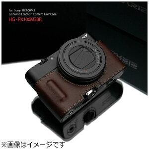 GARIZ ゲリズ 本革カメラケース 【ソニー RX100MIII/RX100MII/RX100用】(ブラウン) HG-RX100M3BR[HGRX100M3BR]