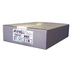 エーワン A-one ラベルシール レーザープリンタ ホワイト 28643 [A4 /500シート /21面 /マット]【rb_mmme】