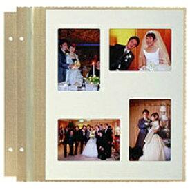 ハクバ HAKUBA 婚礼セット台紙 中台紙(6切/L判×4面/ネオゴールド) MWS-M6-NGL4