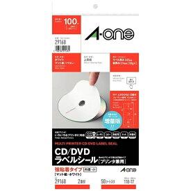エーワン A-one CD/DVDラベル 兼用タイプ ホワイト 29168 [A4 /50シート /2面 /マット]【aoneC2009】