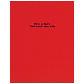 ナカバヤシ Nakabayashi 100年台紙アルバム/ドゥファビネ(A4サイズ/フエルアルバム/レッド)アH-A4D-161-R[アHA4D161R]