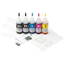 サンワサプライ SANWA SUPPLY INK-C320S30S5 詰め替えインク 5色セット[INKC320S30S5]【wtcomo】