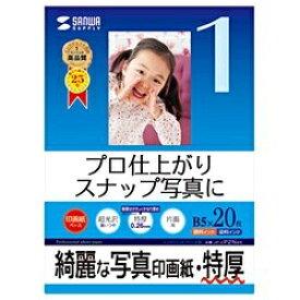 """サンワサプライ SANWA SUPPLY """"インクジェット写真印画紙"""" 特厚 (B5サイズ・20枚) JP-EP2NB5[JPEP2NB5]【wtcomo】"""