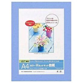 ナカバヤシ Nakabayashi Vカットマット台紙 Digio (A4/ブルー) DGVM-A4-B[DGVMA4B]