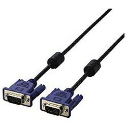 エレコム 5m[D-sub15pin ⇔ D-sub15pin] D-Sub15ピンミニケーブル アナログ接続 ブラック CAC-50BK[CAC50BK]