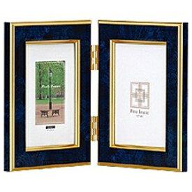 ナカバヤシ Nakabayashi 樹脂製写真立「マーブル(大理石調)」(L判タテ+L判タテ/ブルー) フ-TP-151-B[フTP151B]