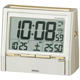 セイコー SEIKO 目覚まし時計 【トークライナー】 薄金色パール DA206G [デジタル /電波自動受信機能有]