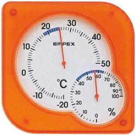 エンペックス EMPEX INSTRUMENTS TM-5604 温湿度計 シュクレmidi(ミディ) クリアオレンジ [アナログ][TM5604]