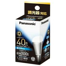 パナソニック Panasonic LDA6D-E17/D LED電球 小形電球形 ホワイト [E17 /昼光色 /1個 /40W相当 /一般電球形 /下方向タイプ][LDA6DE17D]