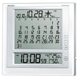 セイコー SEIKO 掛け置き兼用時計 【マンスリーカレンダー】 白パール SQ422W [電波自動受信機能有][SQ422W]
