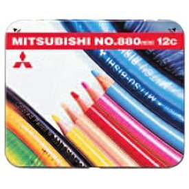 三菱鉛筆 MITSUBISHI PENCIL [色鉛筆] No.880 ミニ 12色 K880M12CP